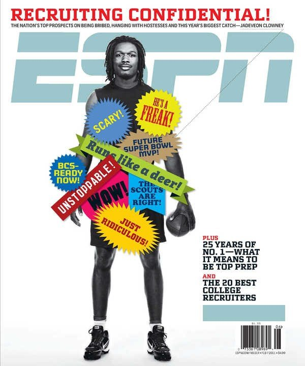 Clowney on the cover of ESPN the Magazine