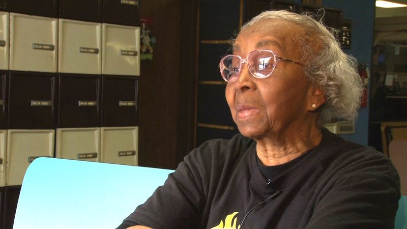 85 year-old Zenobia Glover participated in Senior Sports Week and loves being active