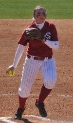 Julie Sarrat helped limit the Crimson Tide to one run on Sunday