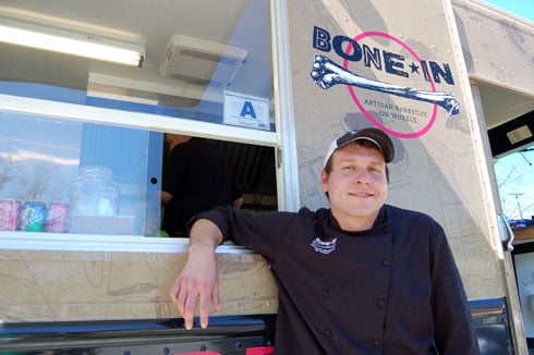 Chef Scott Hall's Bone-In Barbecue truck has sold out several times since opening in early 2011. Find it's location on Twitter along with chatter about specialties like lobster macaroni and cheese or cayenne-ginger lemonade.