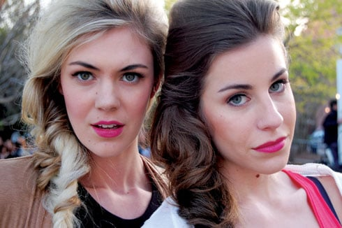 Jennifer Blencowe and Taylor Williams were two of the models for the Mary Mojo and The Shoe Fairy runway show Friday night during Charleston Fashion Week.