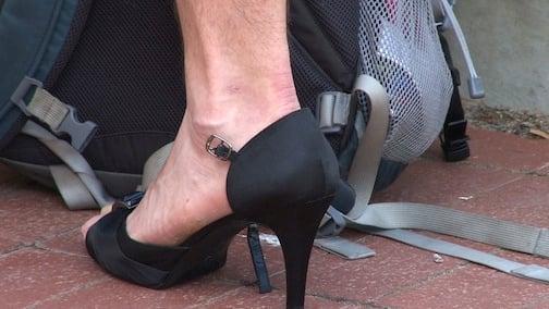 Over 400 men wore heels to support sexual assault victims.