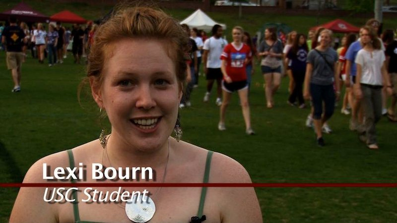 Lexi Bourn's mother is a breast cancer survivor. She's supporting her mom at Relay for Life.