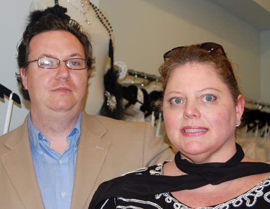 Ren Steely-Judice opened Bella Vista so that his wife, Marcell Steely could pursue her passion for design while recovering from health problems. Steely designs about 30 percent of the boutique's gowns.