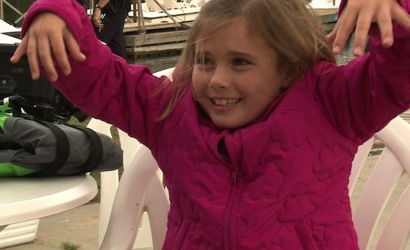 McKenzie Lott knows the importance of wearing her life jacket.