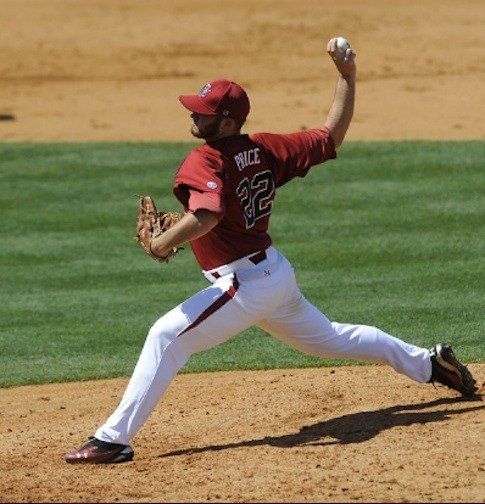 Sophomore Matt Price picked up the win with three scoreless innings of relief work.