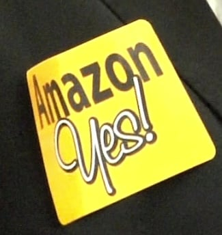 Stickers In Favor of Bringing Amazon to Cayce
