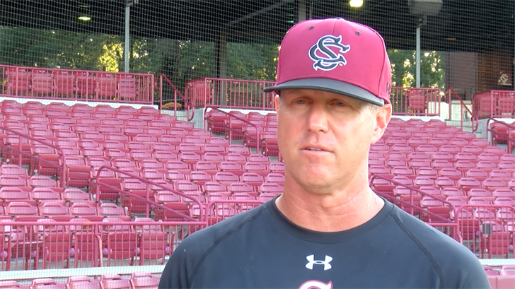 New South Carolina baseball coach Mark Kingston.