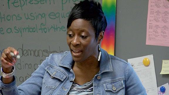 LaSonya Stewart, third grade teacher at William S. Sandel Elementary School, focuses on being a good role model for her students.
