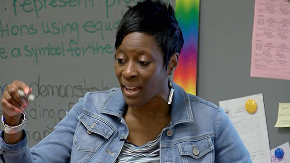 LaSonya Stewart, third grade teacher at William S. Sandel Elementary School, focuses on being a good role model for her students.