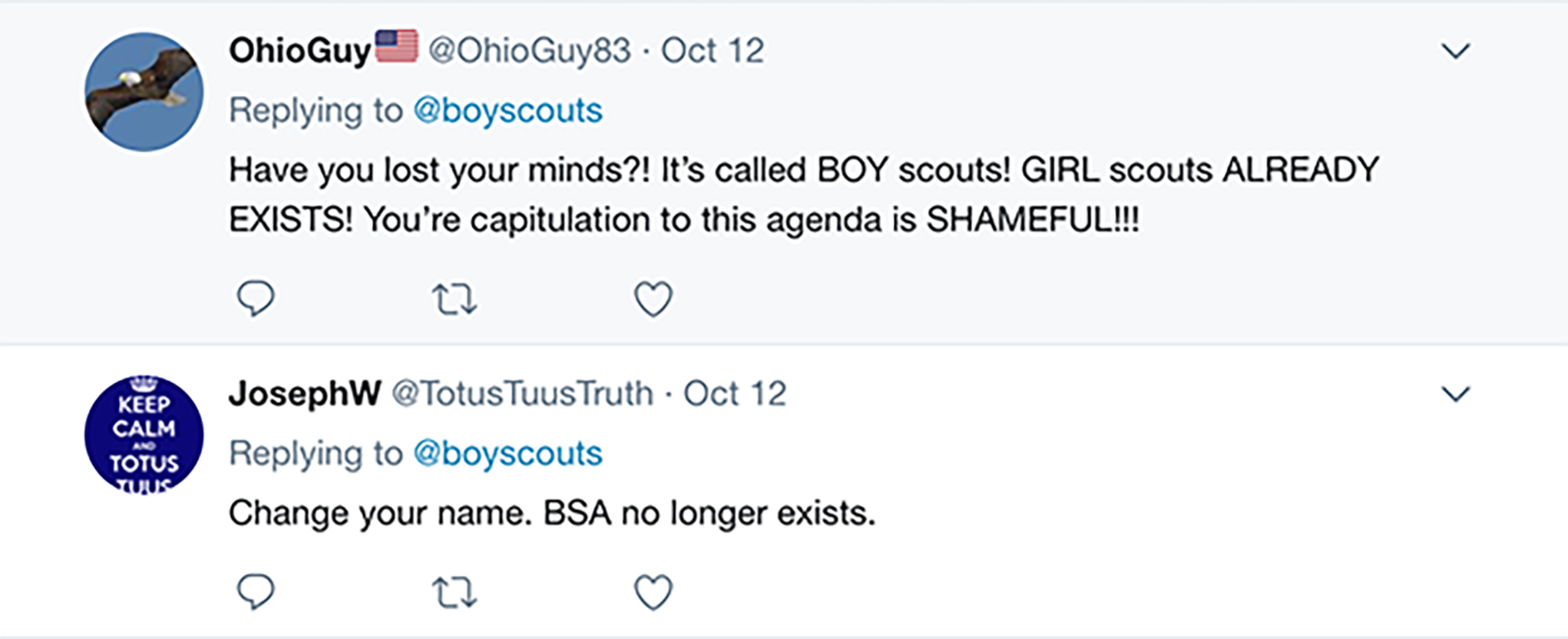 The public wasn't completely on board with the BSA's recent decision to include girls in the program. Many reiterated that boys and girls have their own organizations already, while some ackowledged the honor of becoming an Eagle Scout and said including