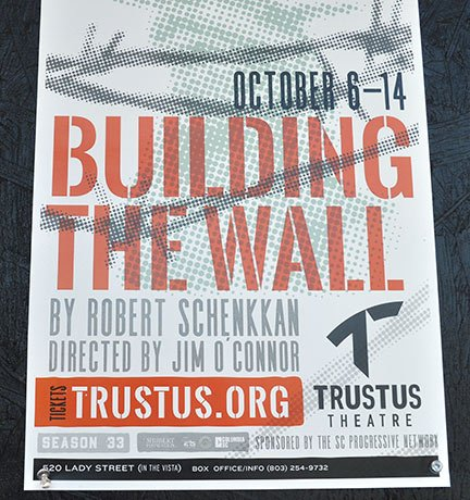 """Artistic director Chad Henderson said Trustus' last show, """"Building the Wall,"""" featured two actors in a cell discussing immigration policies, and he called it a very """"Trustus"""" show."""
