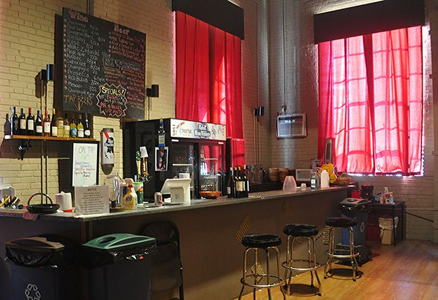 Trustus Theatre allows patrons to bring their drinks from the bar back to their seats during the shows and provides free popcorn for their mainstage shows.