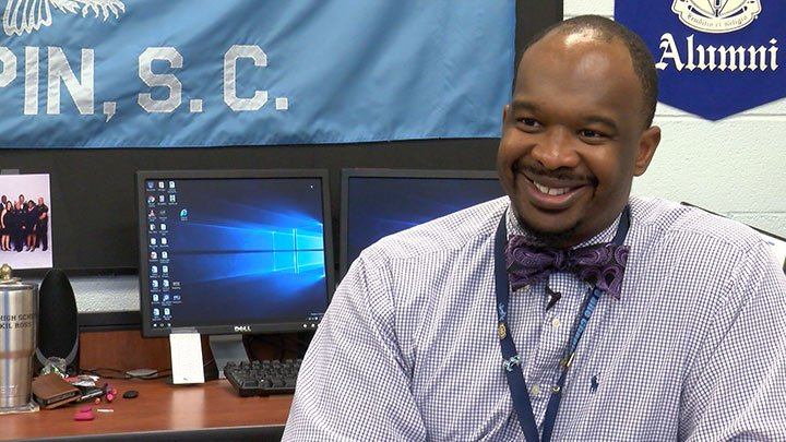Chapin High School Principal Akil Ross explains how winning the Principal of the Year award is a team effort.