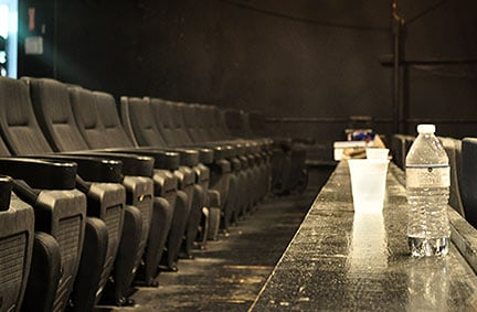 Artistic director Chad Henderson says the reclining movie theater style seats with cup holders make Trustus a very comfortable theater to reward the patrons who chose coming to the theater over going to the movies or watching Netflix all night.