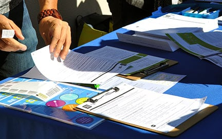 Signing up for the Be The Match bone marrow registry involves filling out a questionnaire and swabbing the inside of both cheeks.