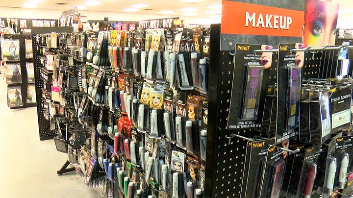 Costumes aren't the only thing on sale, makeup and facepaint are as well.