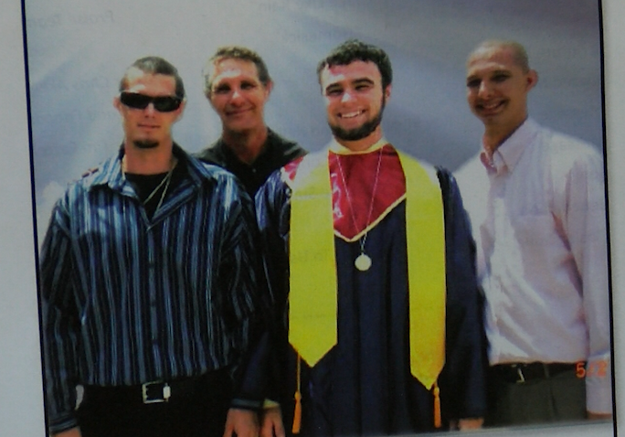 Roy McConnell Jr., second from left, and his three sons, Nathan, Kelly and Roy III were killed by a drunk driver.