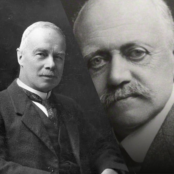 George Vernon Hudson (left) and William Willett (right) are credited for inventers of daylight saving time.