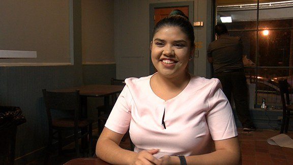 USC student Maria Garcia, co-owner of Catitude, is excited to have her dream job.