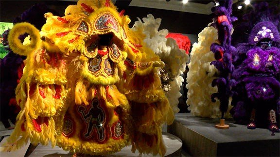 These Mardi Gras Indian Suits were used in the filming of HBO's show 'Treme.'