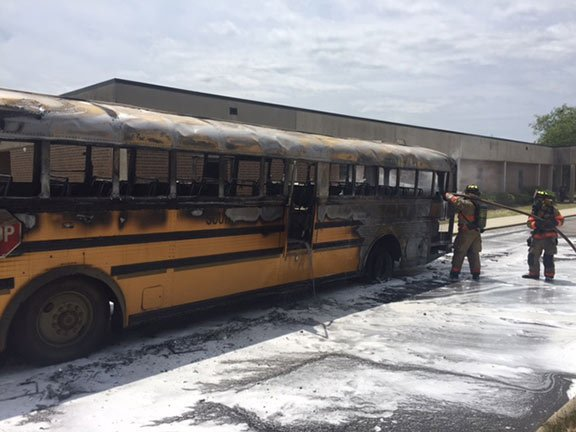 Since 2012, there has been 24 school bus fires with vehicles over 15 years old.