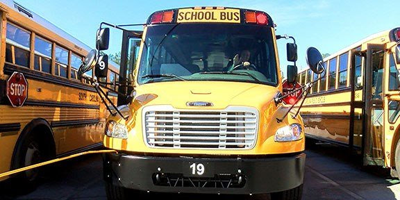 The South Carolina Department of Education is buying 855 new buses this year.