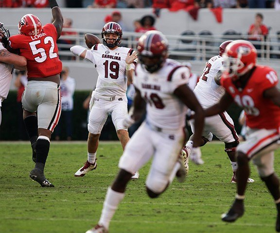 South Carolina quarterback Jake Bentley passed for 227 yards in the game. *All photo credits Jayson Jeffers.