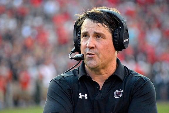 Head football coach Will Muschamp.