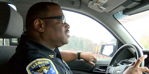 Terrence Green, Lexington police chief, feels his morning drive around Lexington became faster with the installation of the new cameras.