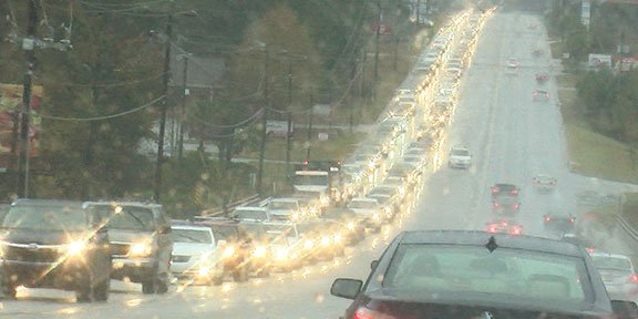 A look into the congestion of the Lexington morning commute without the traffic cameras.