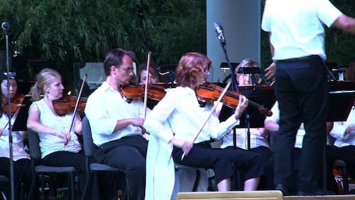 The South Carolina Philharmonic performed a variety of songs for the crowd.
