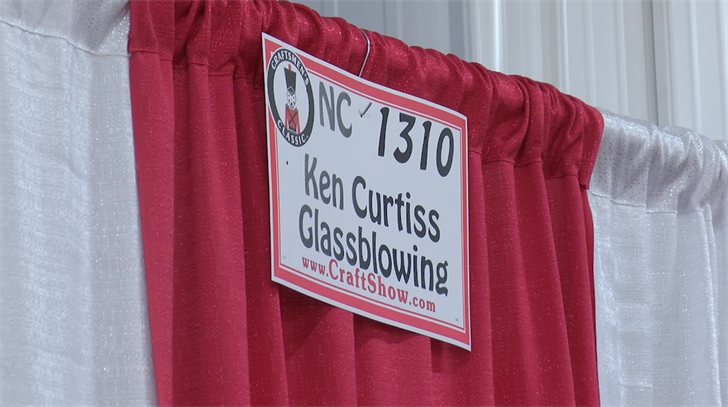 Ken Curtiss has been attending this craft festival for 30 years.