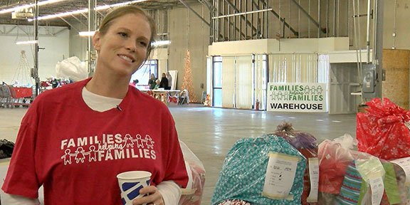 Nell Killroy, Families Helping Families director, works with many families and organizations to help thousands of needy families purchase gifts for their families.