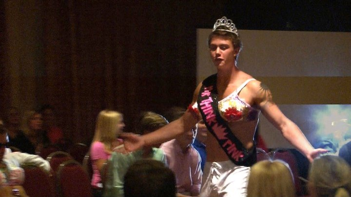 Zach Holt was crowned Mr. Think Pink Week on Tuesday night.