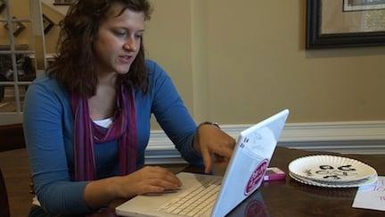 USC freshman Emily Ginn uses Pinterest to organize what she likes on the internet.