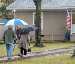 Voters at Saluda River Baptist braved the weather to cast their GOP primary votes