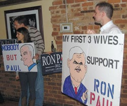 Newt Gingrich won, but he still was the object of taunts from Paul supporters.