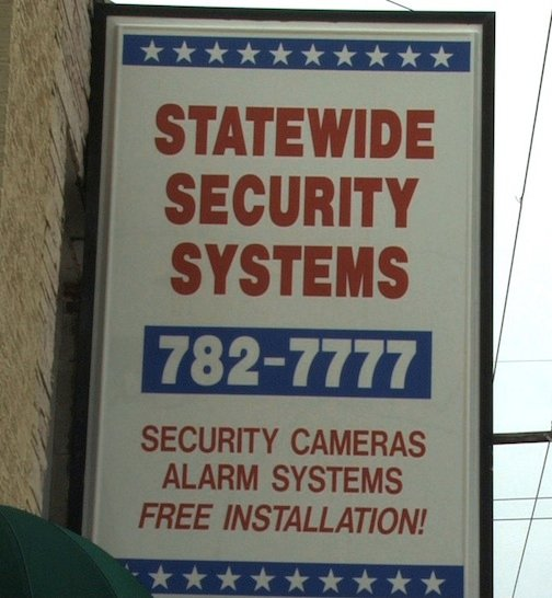 Statewide Security Systems is the private company which owns the security cameras on Main Street. The city is negotiating with the company so that the cameras can be left up.