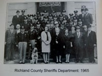 Leonard Price's dog King, lower left, became the first police dog for the Richland County Sheriff's Department in 1965.