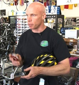 Outspoken Bicycles owner Brian Curran says you should always wear a helmet while riding