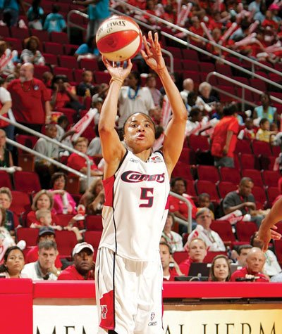 From 1999-06, Staley played in the WNBA, was a five-time All-Star and selected to the All-Decade team. Courtesy of the Houston Comets.