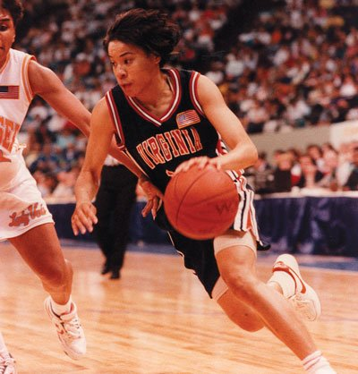 From 1989-92,Staley was a three-time All-American and the only player in ACC history with more than 2,000 points, 700 rebounds, 700 assists, and 400 steals. Courtesy of University of Virginia Athletics Media Relations