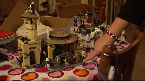 These are two Stars Wars Lego sets that Travis built with his feet. These sets both contain around 700 pieces and took almost 10 hours to complete.