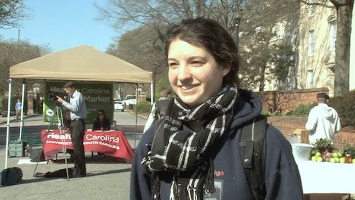 Theresa Krupka marked Food Justice Week by visiting the Healthy Carolina Farmer's Market.