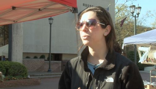 Renee Lebouef works for Sustainable Carolina, a student organization that sponsors Food Justice Week.