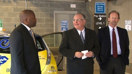 Mayor Steve Benjamin, Matt Kennel, and a city representative say the new shuttle will save the city around $800 per month.