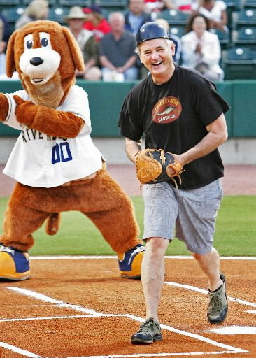 As part owner of the Charleston RiverDogs minor league baseball team, Bill Murray can sometimes be found at RiverDogs games. Photo courtesy of Charleston RiverDogs.