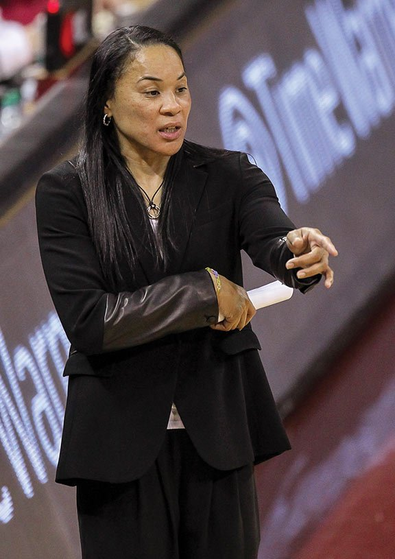 Dawn Staley, head coach of the USC women's basketball team. Photo courtesy of University of South Carolina Athletics