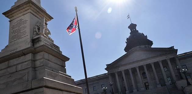 As long as the Confederate flag flies in front of the South Carolina State House, the NCAA has barred the state from being a predetermined post-season event site. Photo by Sarah Ellis